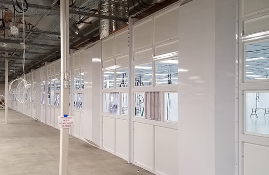 Medical Device Manufacturing Class 100 Recirculating Cleanroom Modular